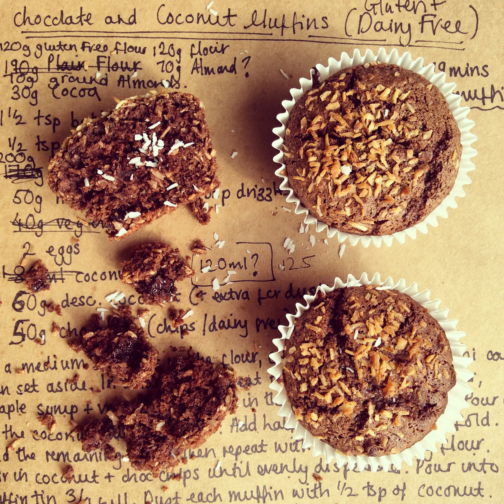 Choc and coc muffins