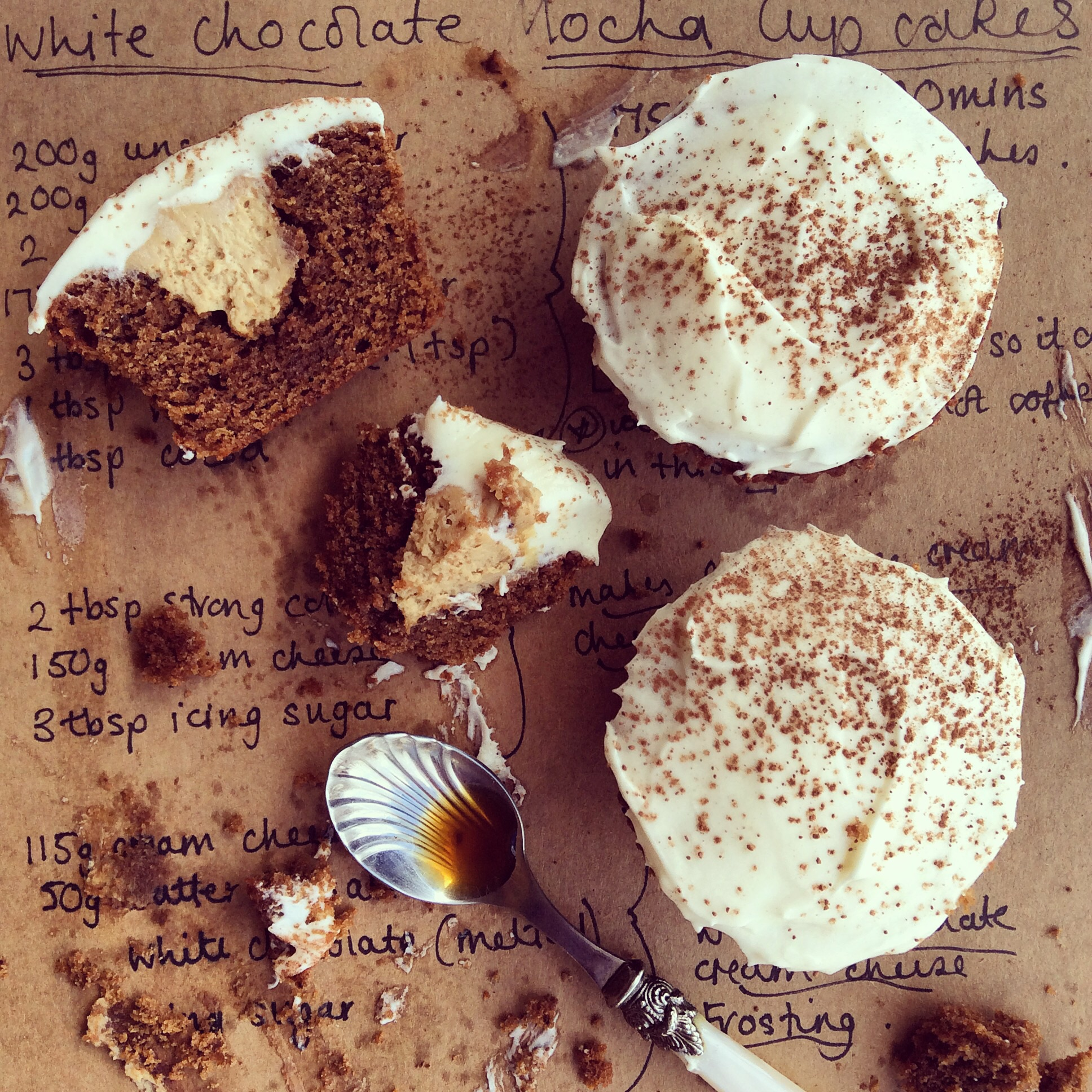 Mocha Cupcakes - Stuffed with Coffee Cream