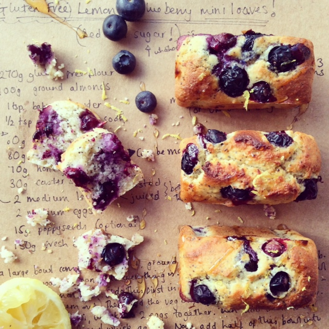 Gluten free Lemon and Blueberry Mini Loaves