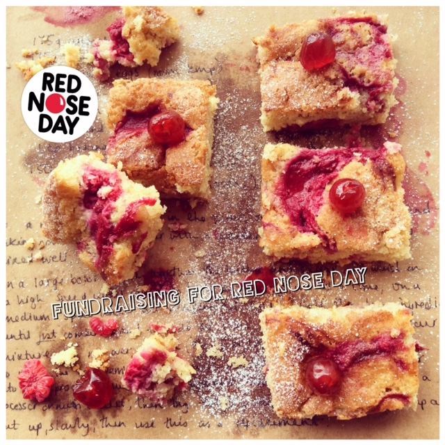 Gluten Free Raspberry Swirl Tray Bake