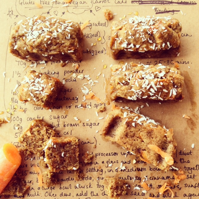 Vegan and gluten free carrot and coconut bites