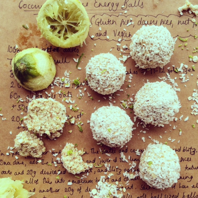 Coconut & Lime Energy Balls