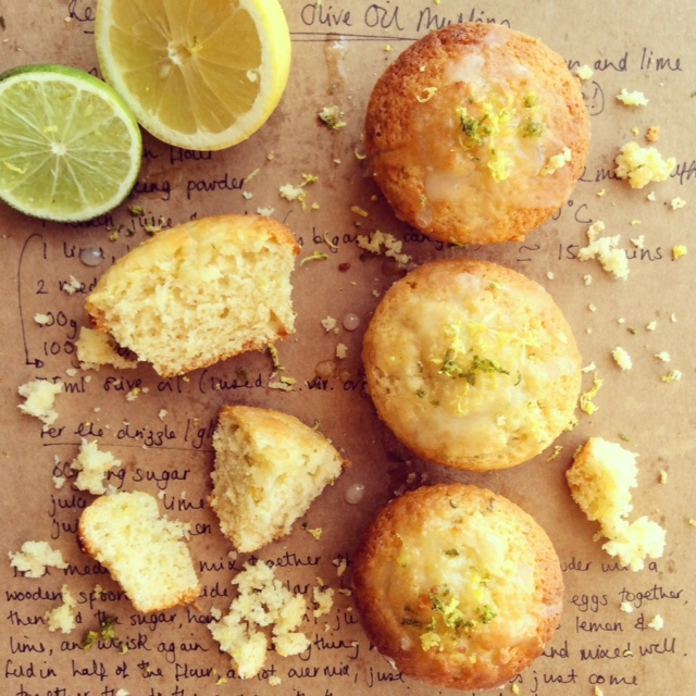Lemon & Lime Olive Oil Mini Muffins
