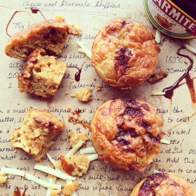 Cheese and Marmite Muffins