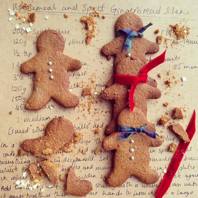 Wholemeal and Spelt Gingerbread Men