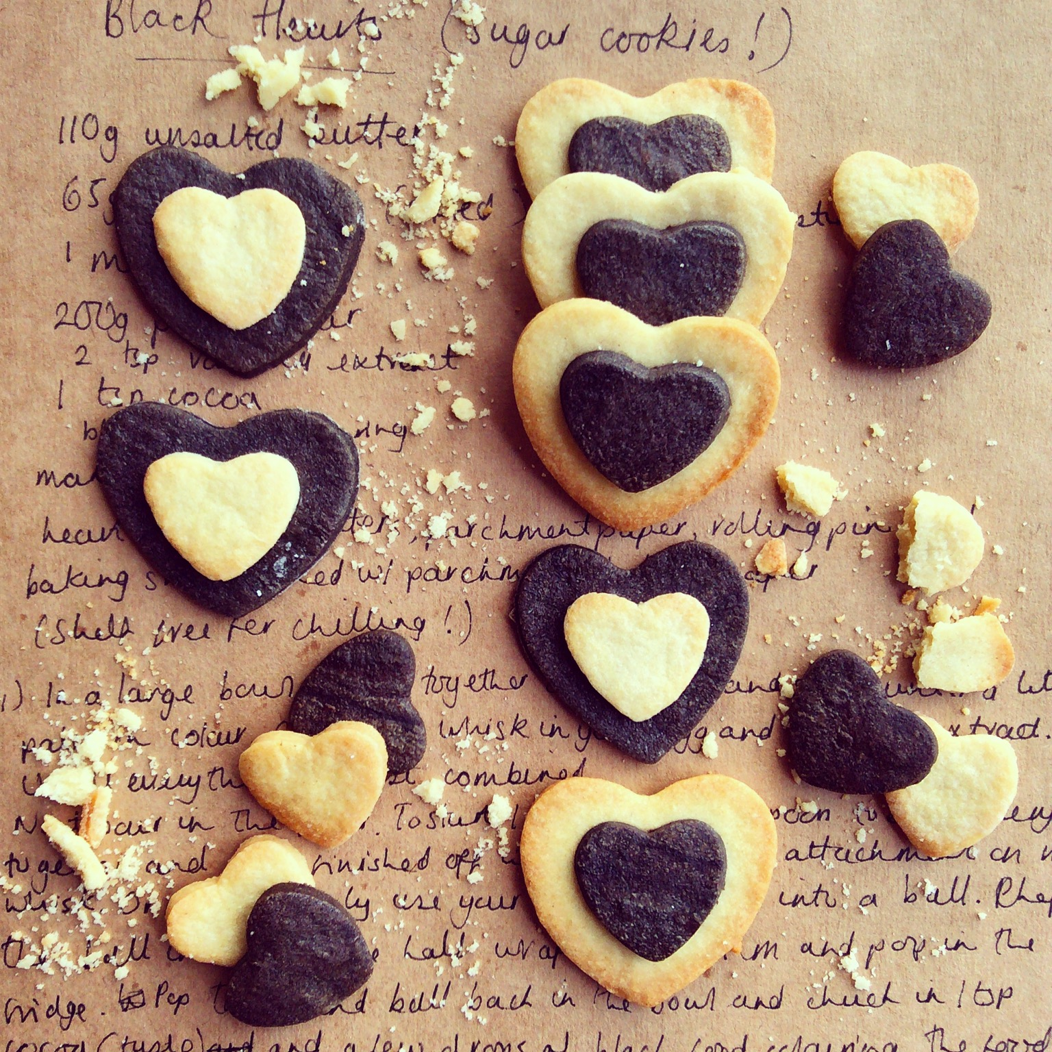 'Black Heart' Sugar Cookies