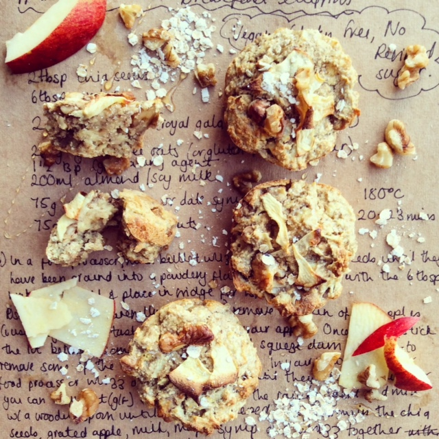 Healthier Choice Apple and Walnut Muffins