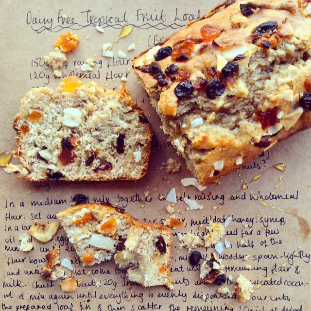 Tropical Fruit Loaf - Dairy Free
