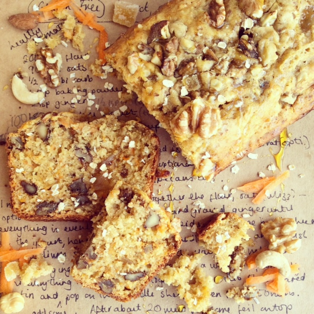 Carrot, Ginger and Nut loaf - Gluten Free