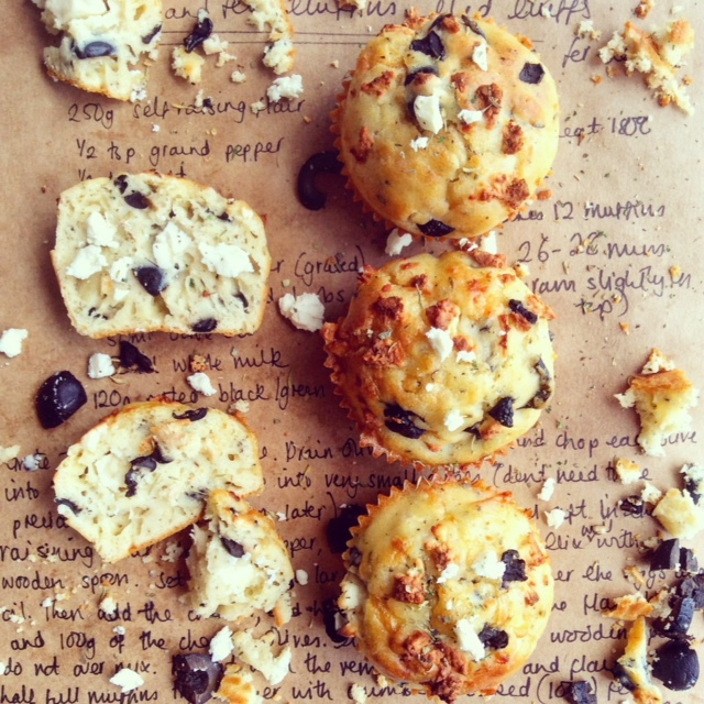 Olive and Feta Muffins