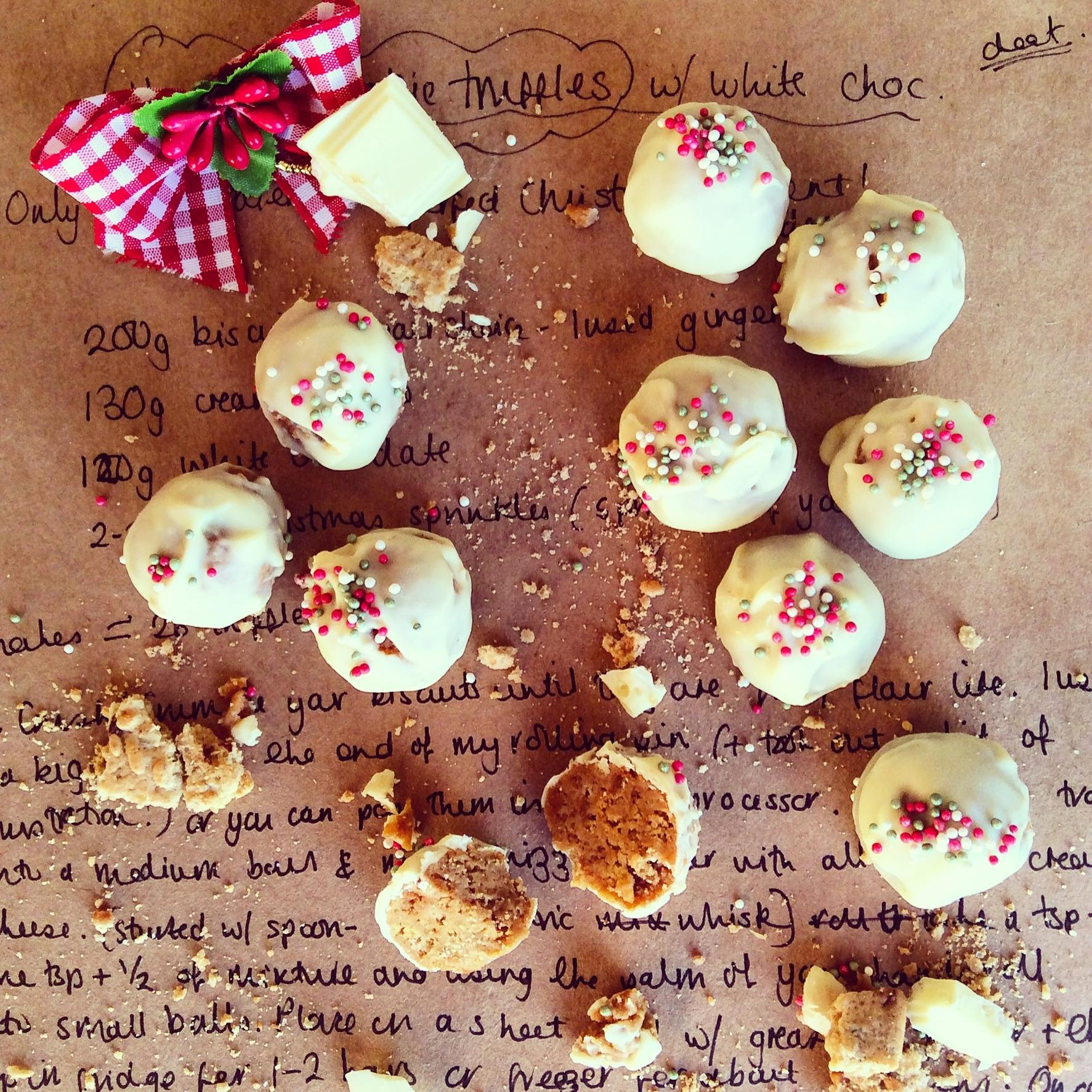 GingerBread Cookie Dough Truffles