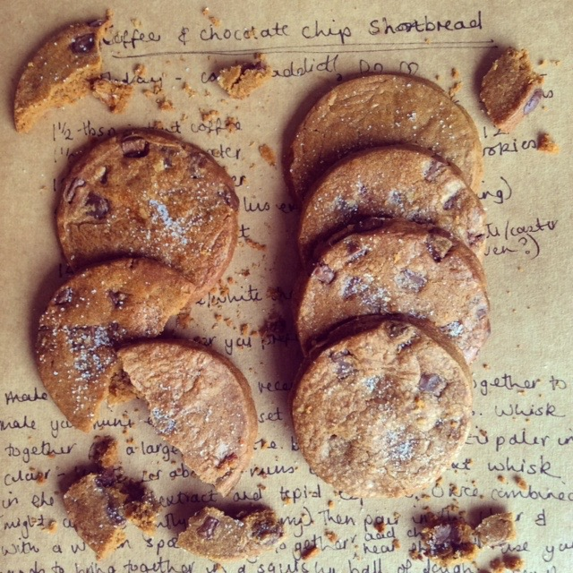Coffee and Chocolate Chip Shortbread