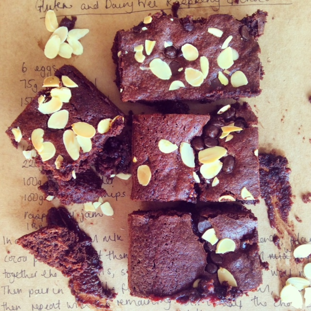 Gluten and Dairy Free Raspberry and Chocolate Brownie