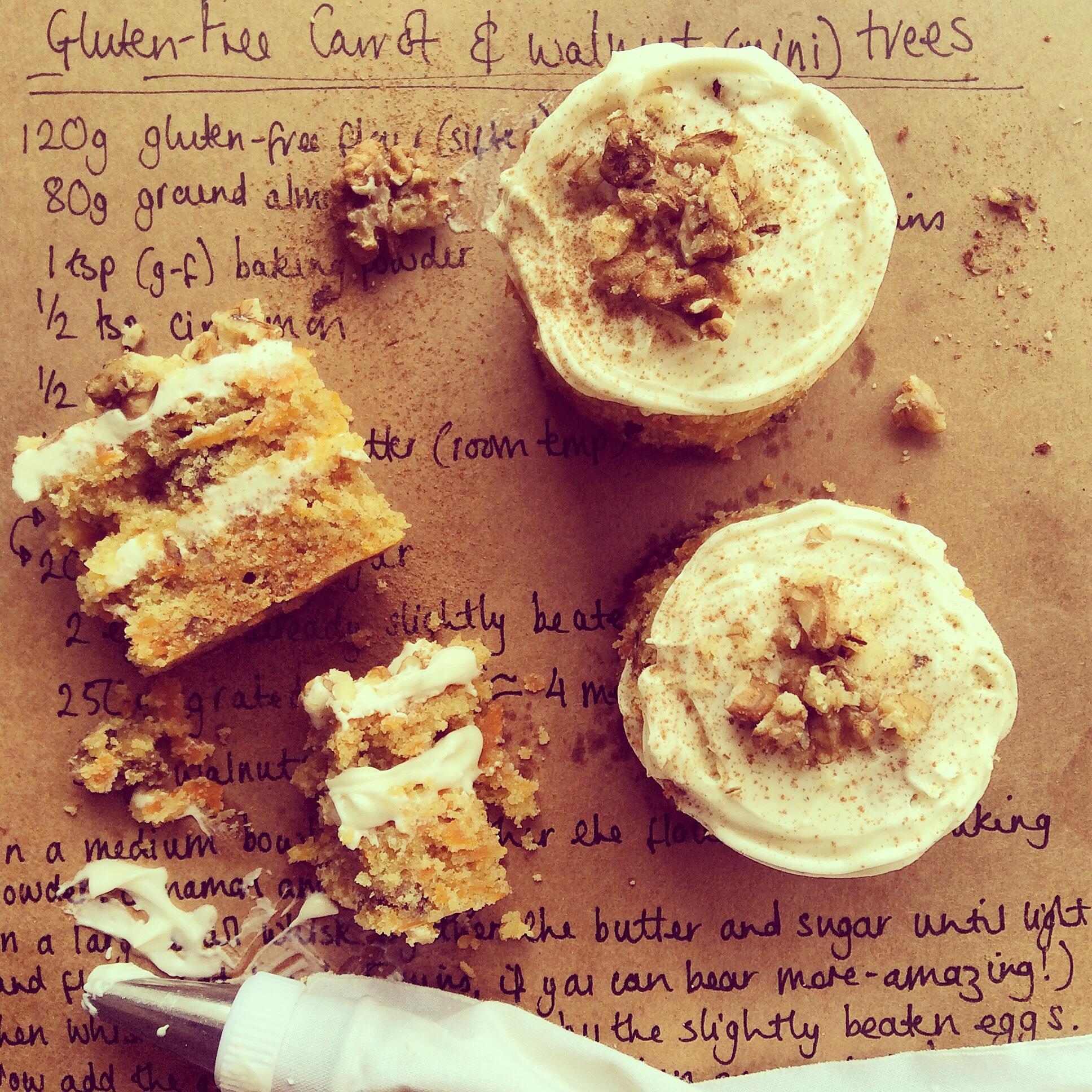 Gluten Free Carrot & Walnut Trees