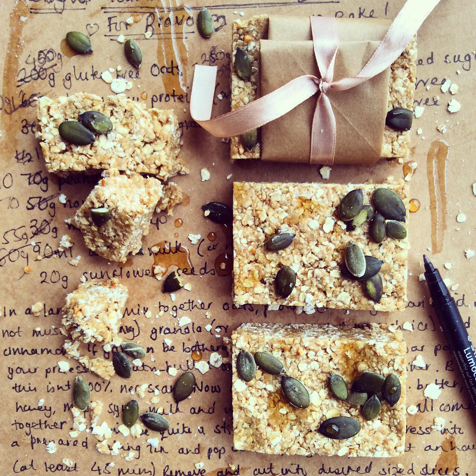 Gluten free protein flapjacks