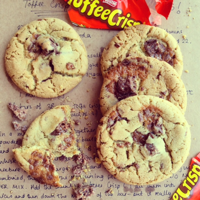 Toffee Crisp Cookies