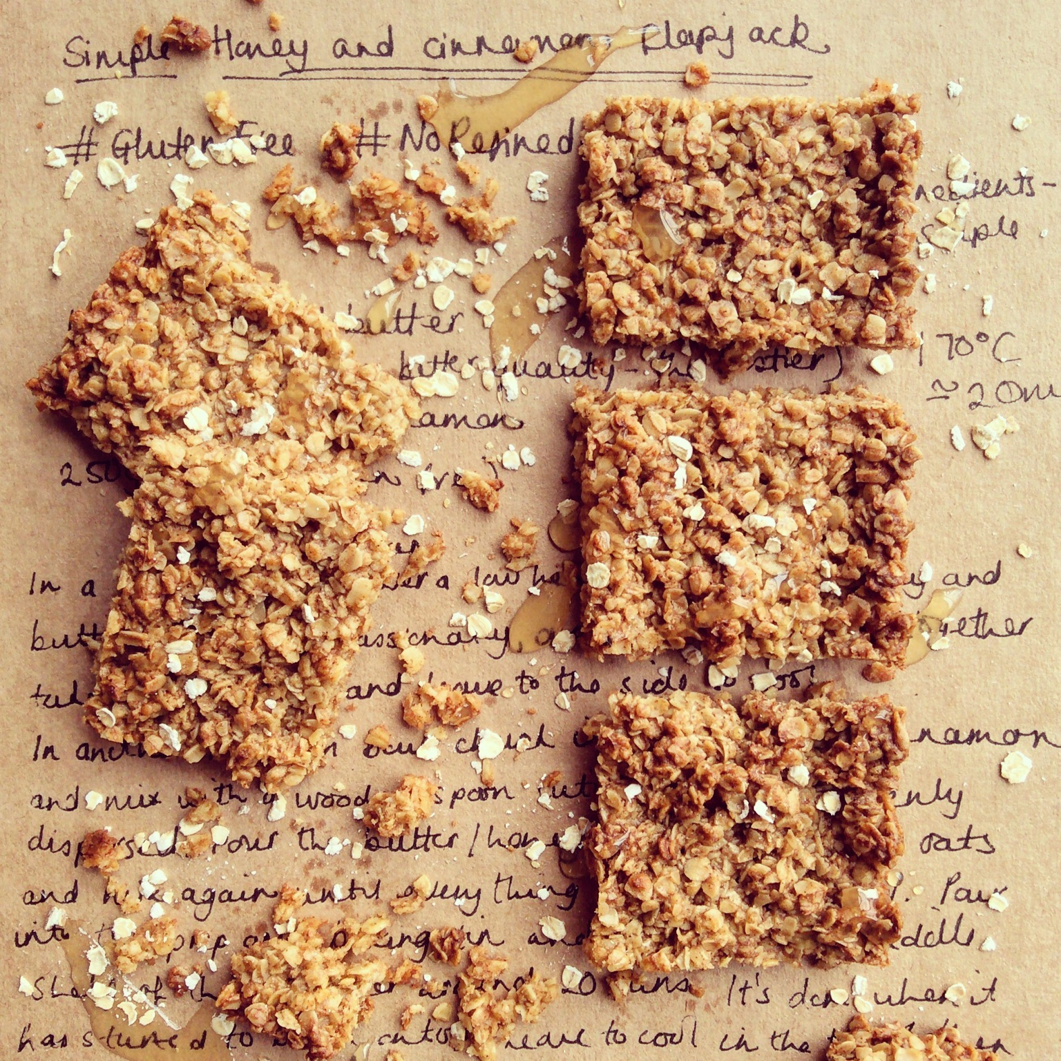 Simple Honey and Cinnamon Flapjack