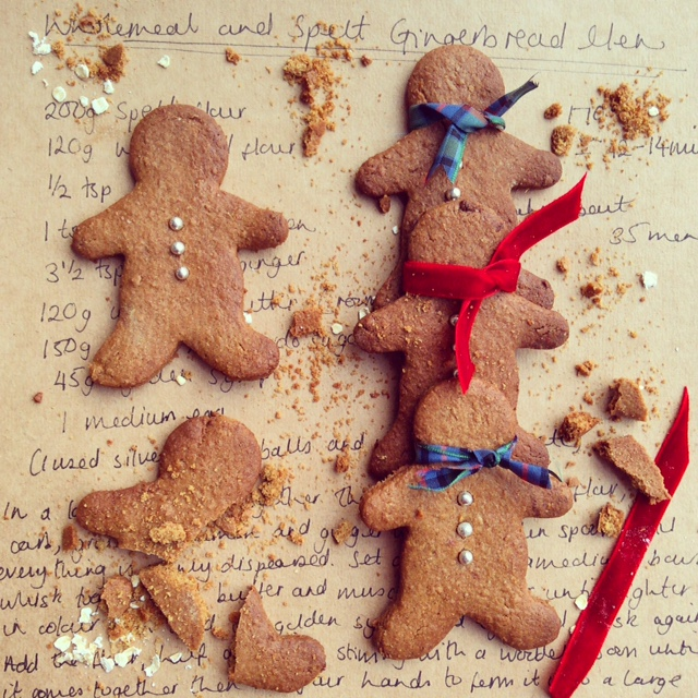 Wholemeal and Spelt Gingerbread Men