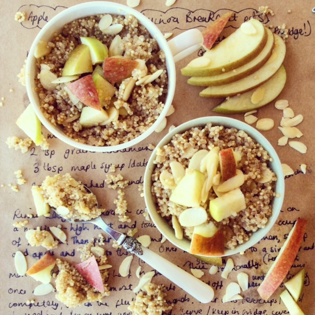 Apple and Almond Quinoa Porridge
