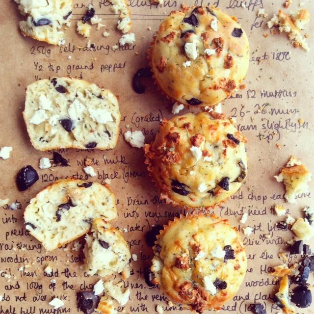 Olive and Feta Muffins