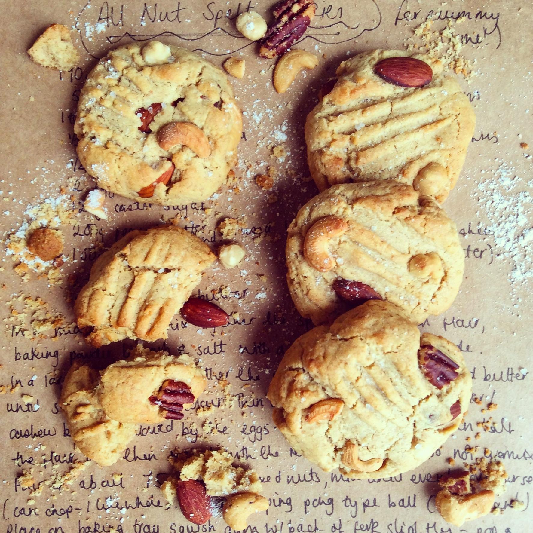All Nut Spelt Cookies