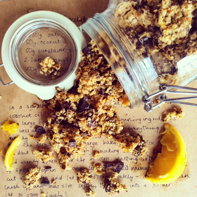 Vegan Chocolate Orange Granola